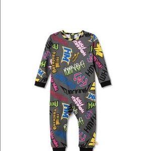 Baby graffiti print long sleeve bodysuit